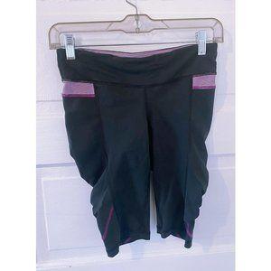 Lululemon Take Flight Bike Shorts 4 Black Purple B